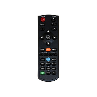 Optoma BR-5047L Laser and Mouse Remote Control for W304M Projector, Black