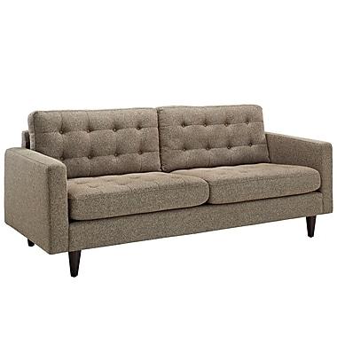 Modway Empress Fine Fabric Sofa, Oatmeal