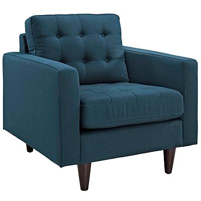 Modway Empress Fabric Armchair, Azure