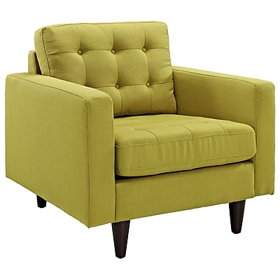 Modway Empress Fabric Armchair, Wheatgrass
