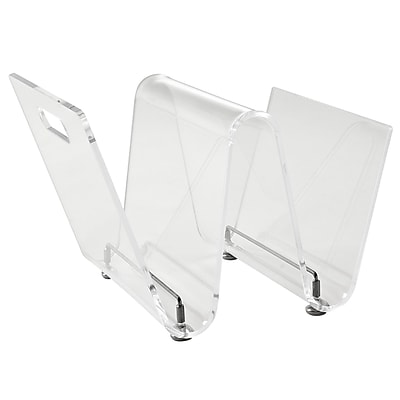 Modway Transparent Acrylic Current Magazine Holder, Clear