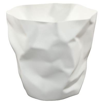 Modway Lava Modern Plastic Trash Bin, White
