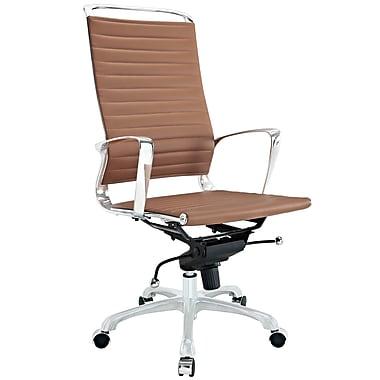 Modway EEI-1025-TAN Tempo Vinyl High-Back Executive Chair with Adjustable Arms, Tan