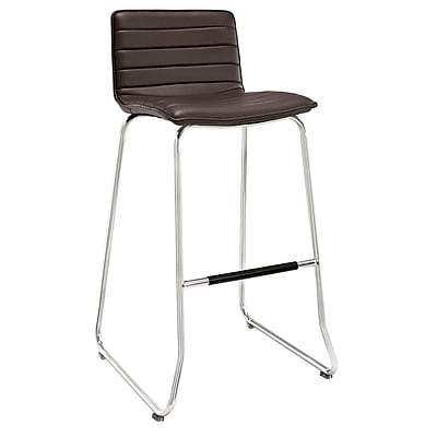 Modway Dive Padded Vinyl Bar Stool, Brown