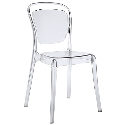 Modway Entreat Polycarbonate Plastic Dining Side Chair, Clear