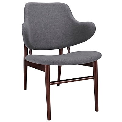 Modway Cherish Soft Fabric Lounge Chair, Dark Gray