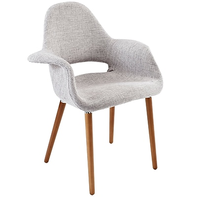 Modway Taupe Fabric Dining Accent Armchair, Light Gray