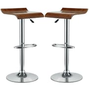 Modway Bentwood Bar Stool, Oak, 2/Pack