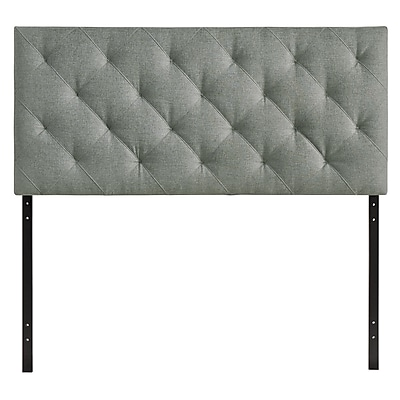 Modway Theodore Queen Linen Tufted Headboard, Gray, 28