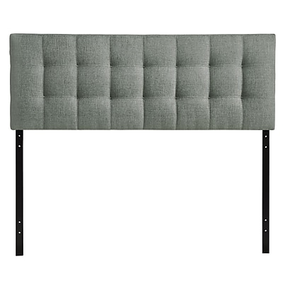 Modway Lily Queen Linen Headboard, Gray, 28