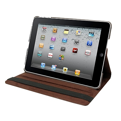 Natico 60-IA360-BR Faux Leather Folio Case for Apple iPad Air, Brown