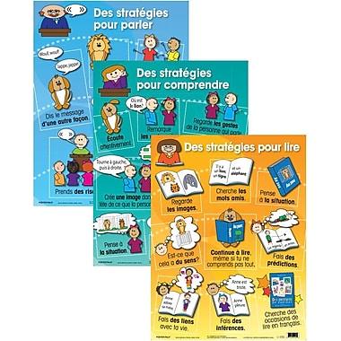 Affiches de stratégies d'apprentissage du français (paquet de 3)