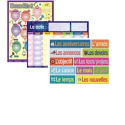 Affiches plastifiées pour salle de classe de français/français langue seconde (FLS) (paquet de 3)