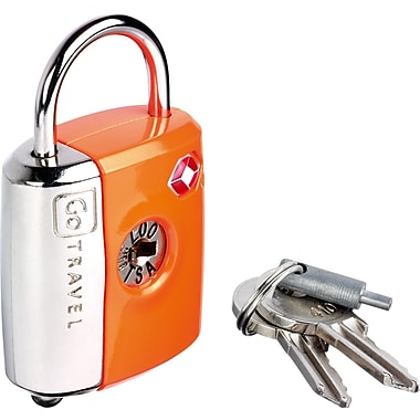 Go Travel Dual Combo/Key TSA® Lock, Orange