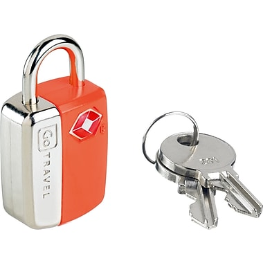 Go Travel Mini Glo Travel Sentry® Lock, Orange, 2/Pack
