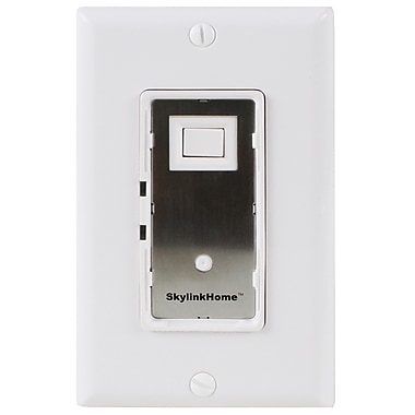 SkyLink® HomeControl WE-001 Lighting Receiver In-Wall On/Off Wall Switch, White