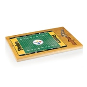 "Picnic Time® NFL Licensed Icon ""Pittsburgh Steelers"" Digital Print Cutting Board, Natural Wood"