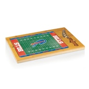 "Picnic Time® NFL Licensed Icon ""Buffalo Bills"" Digital Print Cutting Board, Natural Wood"