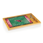 "Picnic Time® NFL Licensed Icon ""Arizona Cardinals"" Digital Print Cutting Board, Natural Wood"