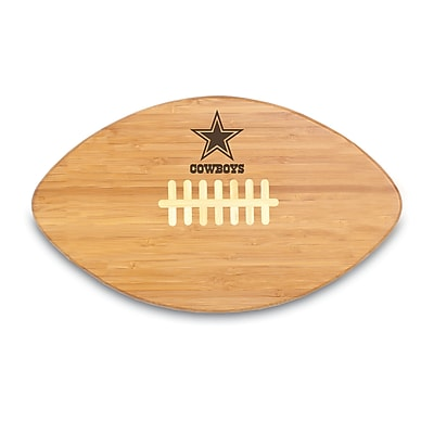 "Picnic Time® NFL Licensed Touchdown Pro! ""Dallas Cowboys"" Engraved Cutting Board, Natural"