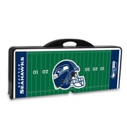 "Picnic Time® NFL Licensed ""Seattle Seahawks"" Digital Print ABS Plastic Sport Picnic Table, Black"