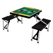 "Picnic Time® NFL Licensed ""Pittsburgh Steelers"" Digital Print ABS Plastic Sport Picnic Table, Black"
