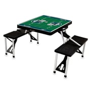 "Picnic Time® NFL Licensed ""Philadelphia Eagles"" Digital Print ABS Plastic Sport Picnic Table, Black"
