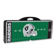 "Picnic Time® NFL Licensed ""Oakland Raiders"" Digital Print ABS Plastic Sport Picnic Table, Black"