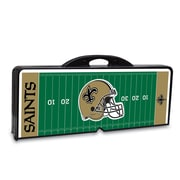"Picnic Time® NFL Licensed ""New Orleans Saints"" Digital Print ABS Plastic Sport Picnic Table, Black"