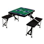 """Picnic Time® NFL Licensed """"Denver Broncos"""" Digital Print ABS Plastic Sport Picnic Table, Black"""