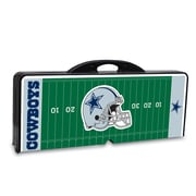 "Picnic Time® NFL Licensed ""Dallas Cowboys"" Digital Print ABS Plastic Sport Picnic Table, Black"