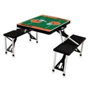 "Picnic Time® NFL Licensed ""Cleveland Browns"" Digital Print ABS Plastic Sport Picnic Table, Black"