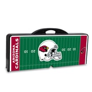 "Picnic Time® NFL Licensed ""Arizona Cardinals"" Digital Print ABS Plastic Sport Picnic Table, Black"