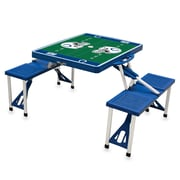 "Picnic Time® NFL Licensed ""Indianapolis Colts"" Digital Print ABS Plastic Sport Picnic Table, Blue"