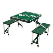 "Picnic Time® NFL Licensed ""New York Jets"" Digital Print ABS Plastic Sport Picnic Table, Hunter"
