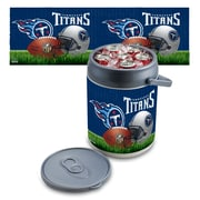 "Picnic Time® NFL Licensed ""Tennessee Titans"" Digital Print Polyethylene Can Cooler, White/Gray"