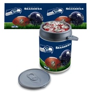 "Picnic Time® NFL Licensed ""Seattle Seahawks"" Digital Print Polyethylene Can Cooler, White/Gray"