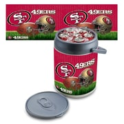 "Picnic Time® NFL Licensed ""San Francisco 49Ers"" Digital Print Polyethylene Can Cooler, White/Gray"