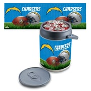 "Picnic Time® NFL Licensed ""San Diego Chargers"" Digital Print Polyethylene Can Cooler, White/Gray"