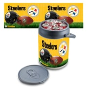 "Picnic Time® NFL Licensed ""Pittsburgh Steelers"" Digital Print Polyethylene Can Cooler, White/Gray"