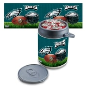 "Picnic Time® NFL Licensed ""Philadelphia Eagles"" Digital Print Polyethylene Can Cooler, White/Gray"