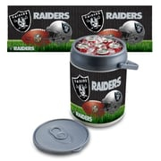 "Picnic Time® NFL Licensed ""Oakland Raiders"" Digital Print Polyethylene Can Cooler, White/Gray"