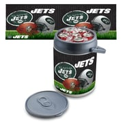 "Picnic Time® NFL Licensed ""New York Jets"" Digital Print Polyethylene Can Cooler, White/Gray"
