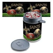"Picnic Time® NFL Licensed ""New Orleans Saints"" Digital Print Polyethylene Can Cooler, White/Gray"