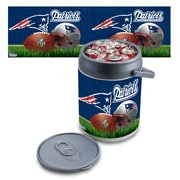"Picnic Time® NFL Licensed ""New England Patriots"" Digital Print Polyethylene Can Cooler, White/Gray"