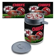 "Picnic Time® NFL Licensed ""Kansas City Chiefs"" Digital Print Polyethylene Can Cooler, White/Gray"
