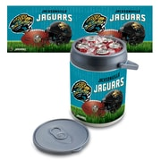 "Picnic Time® NFL Licensed ""Jacksonville Jaguars"" Digital Print Polyethylene Can Cooler, White/Gray"