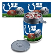 "Picnic Time® NFL Licensed ""Indianapolis Colts"" Digital Print Polyethylene Can Cooler, White/Gray"