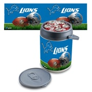 "Picnic Time® NFL Licensed ""Detroit Lions"" Digital Print Polyethylene Can Cooler, White/Gray"