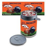 "Picnic Time® NFL Licensed ""Denver Broncos"" Digital Print Polyethylene Can Cooler, White/Gray"